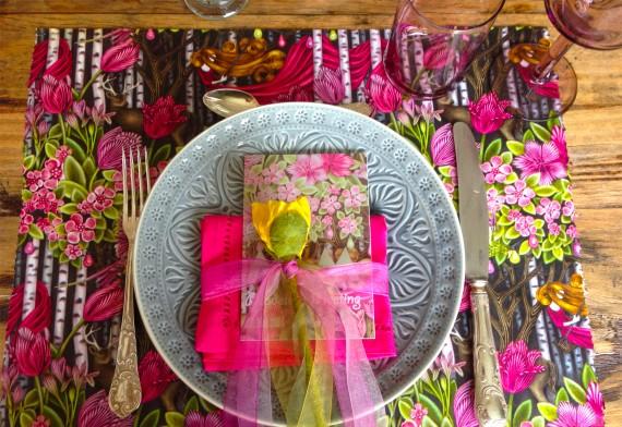 Tischdeko im Dschungel-Style
