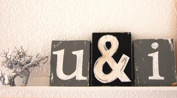 """Buchstaben Deko """"u&i"""""""
