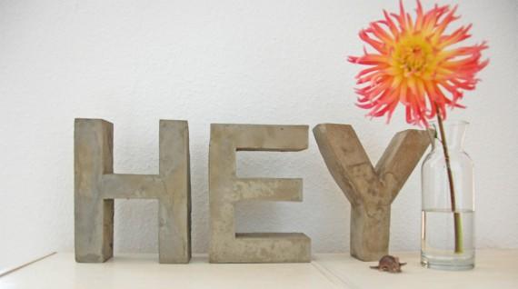 DIY - Betonbuchstaben