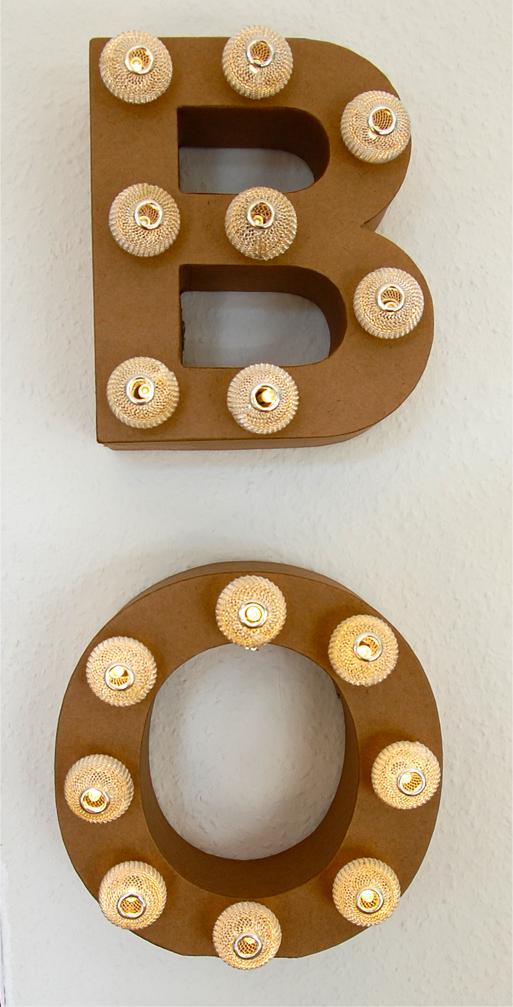 DIY - Buchstabenlampe