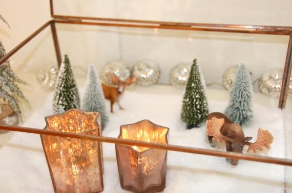 Winterlandschaften im Glas, Glasvitrine