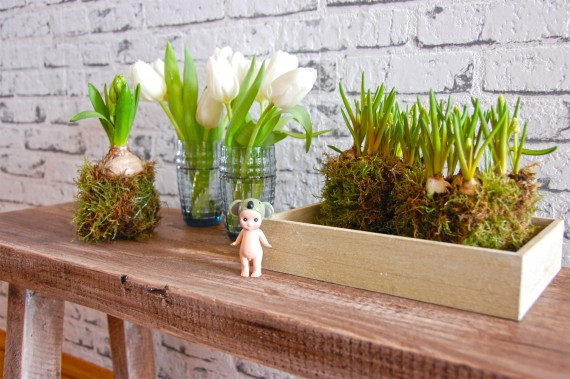 Deko mit Frühlingsblumen
