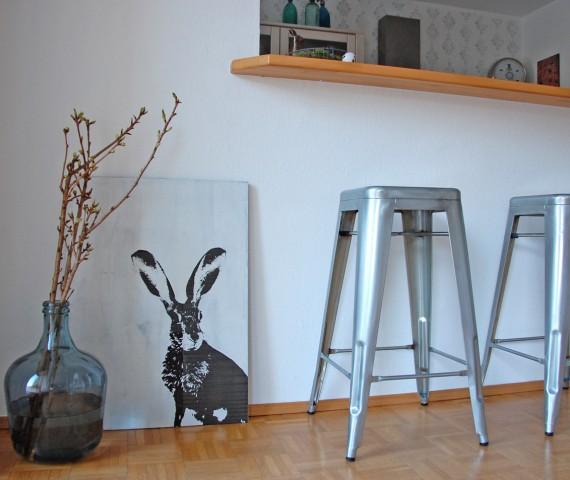 DIY - Holzschild mit Hasenmotiv