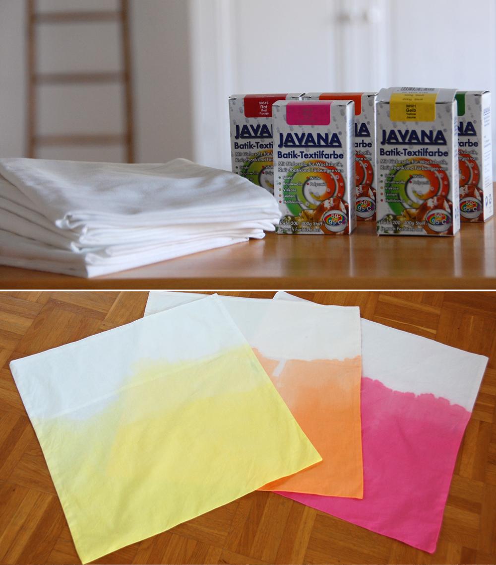 DIY- Dip Dye Kissen