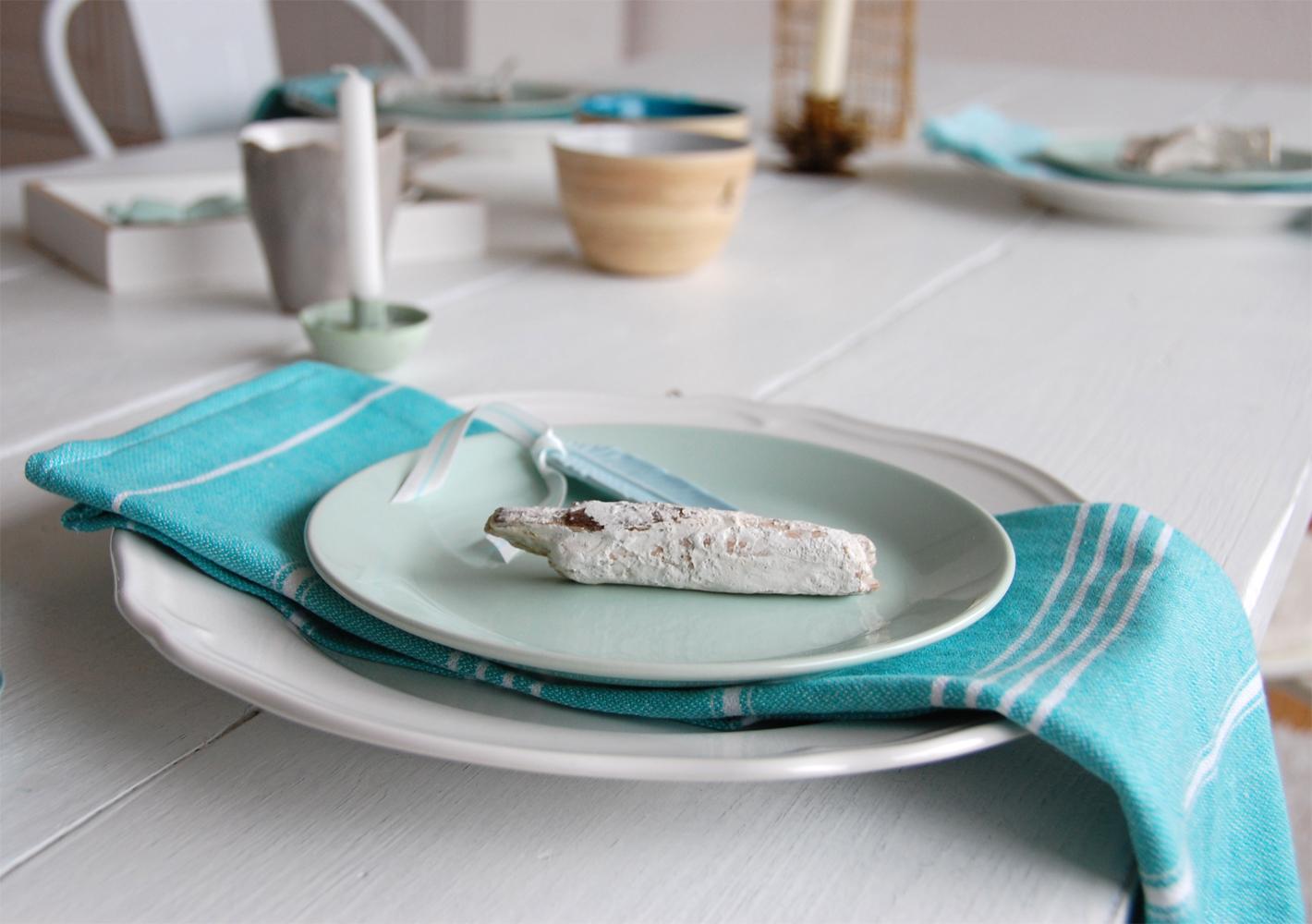Tischdeko  Aqua