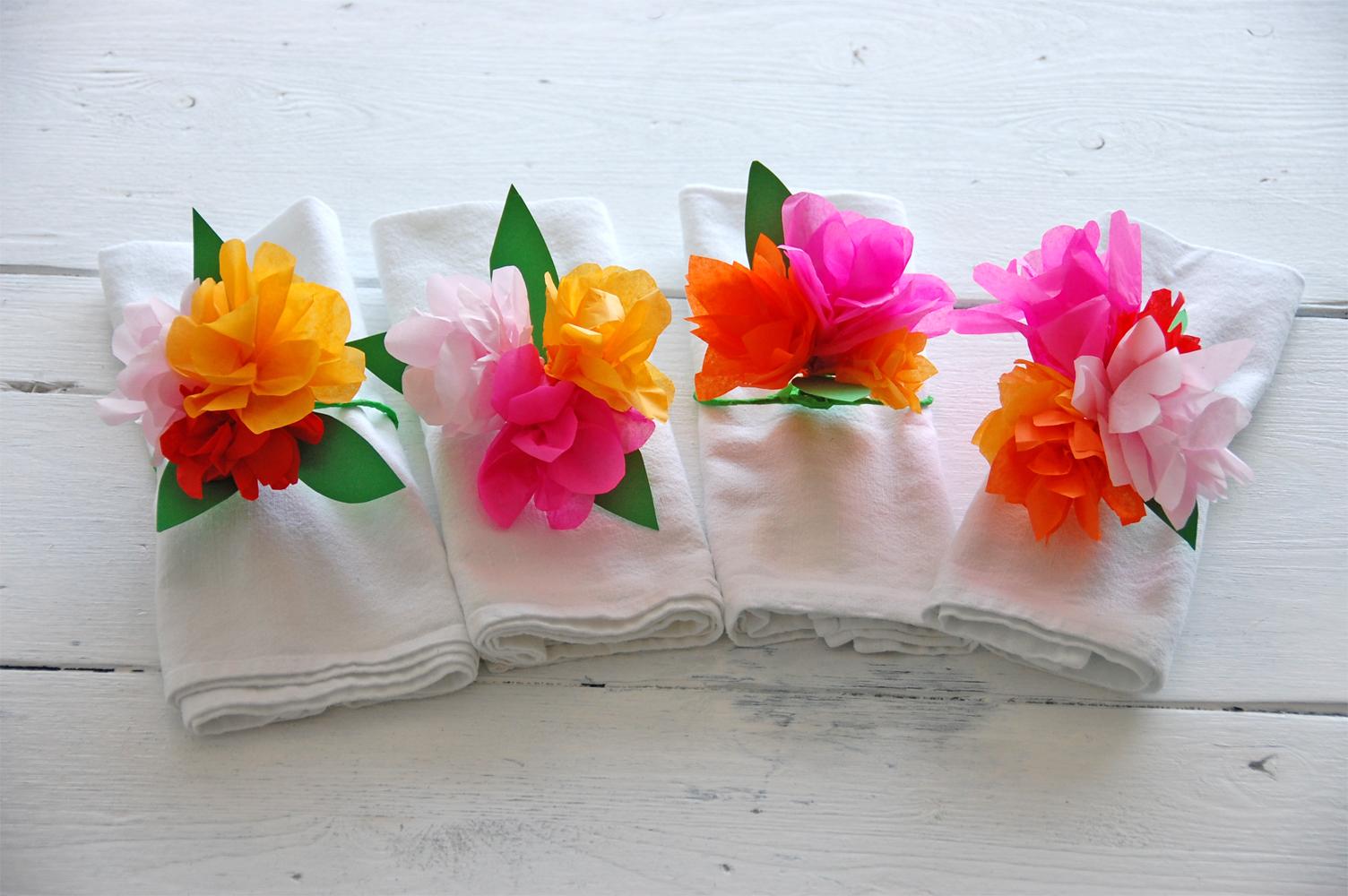 DIY - Serviettenringe aus Seidenpapier