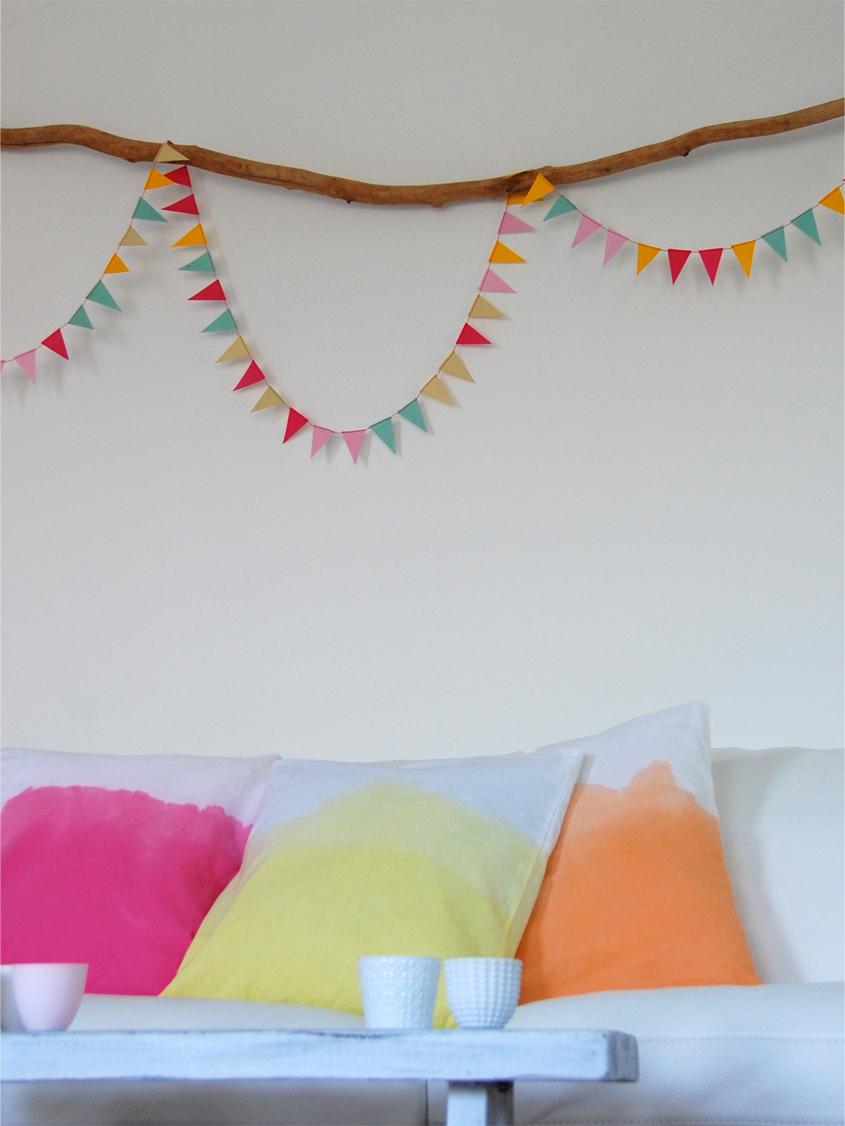 DIY - Dip Dye Kissen