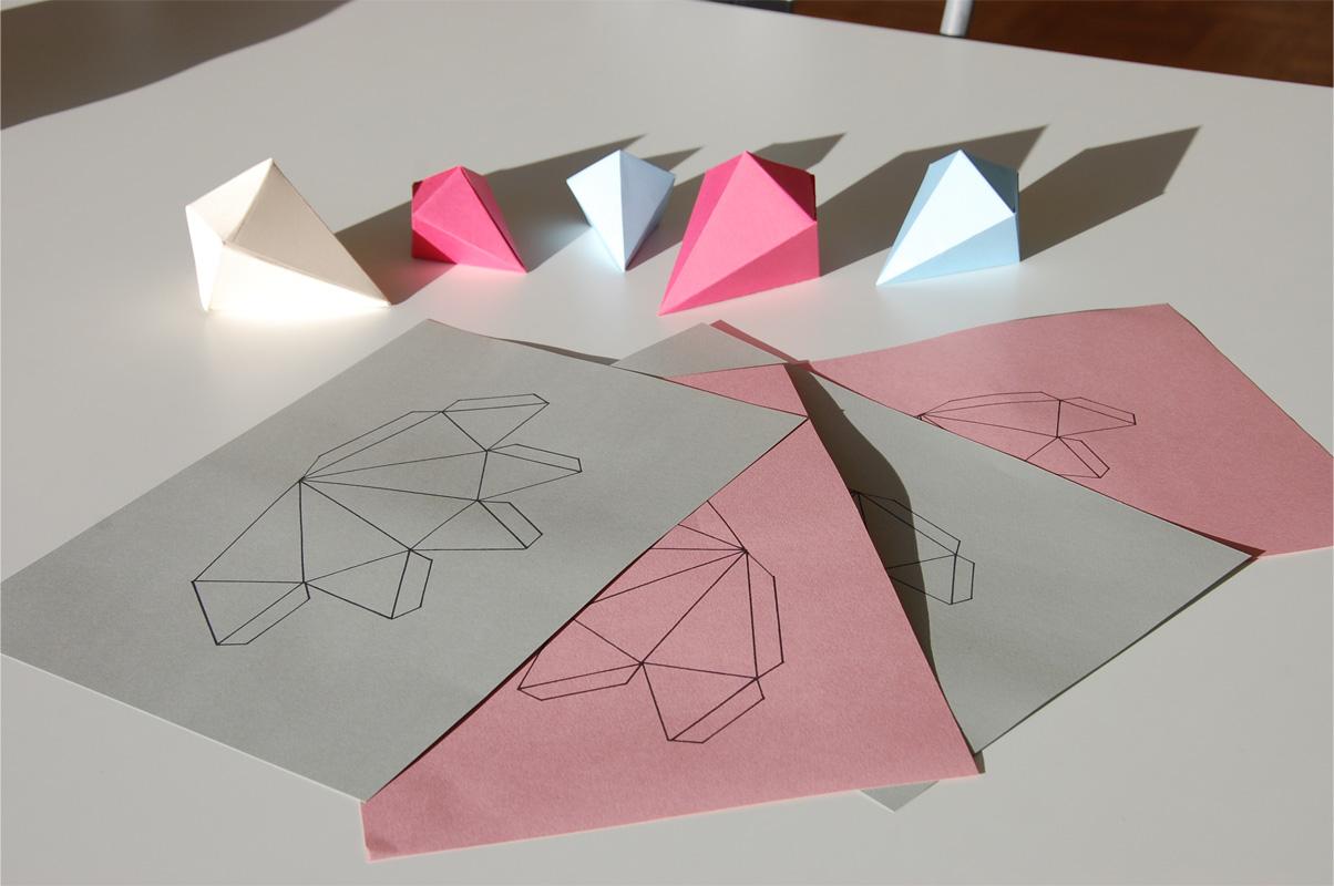 Frühling - Deko: DIY Papierdiamanten