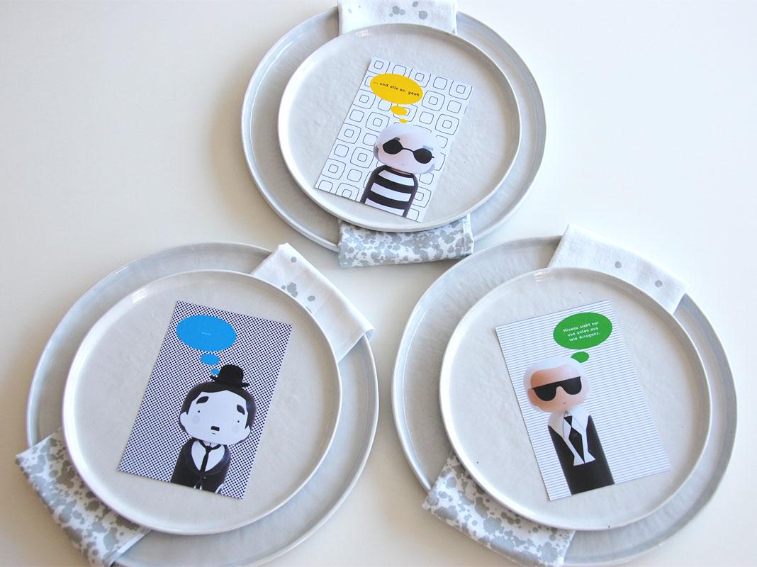 Tischdeko - Kokeshi Figuren