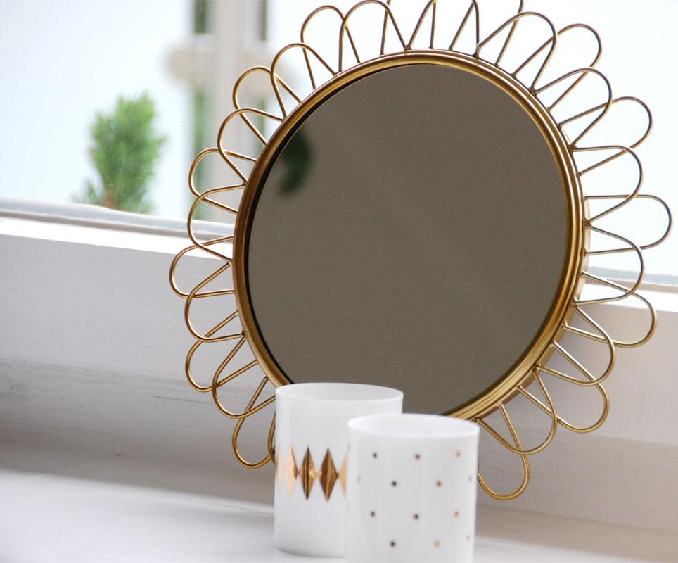 Tischdeko mint und gold