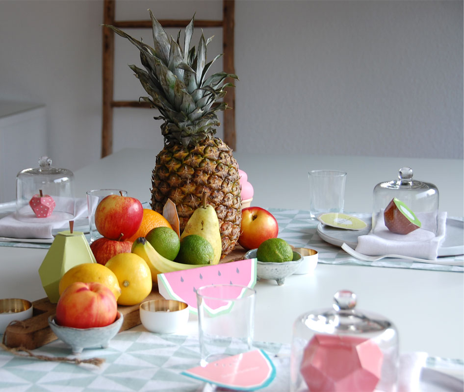 Tischdeko Früchte