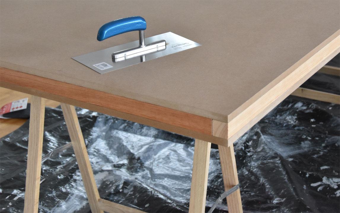 DIY - Tischplatte in Betonoptik