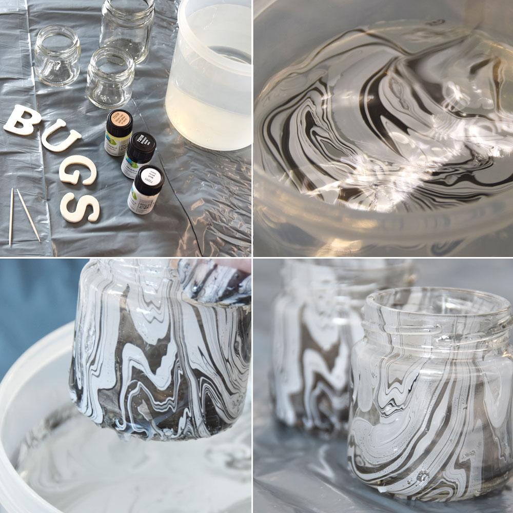 DIY - Gläser marmorieren