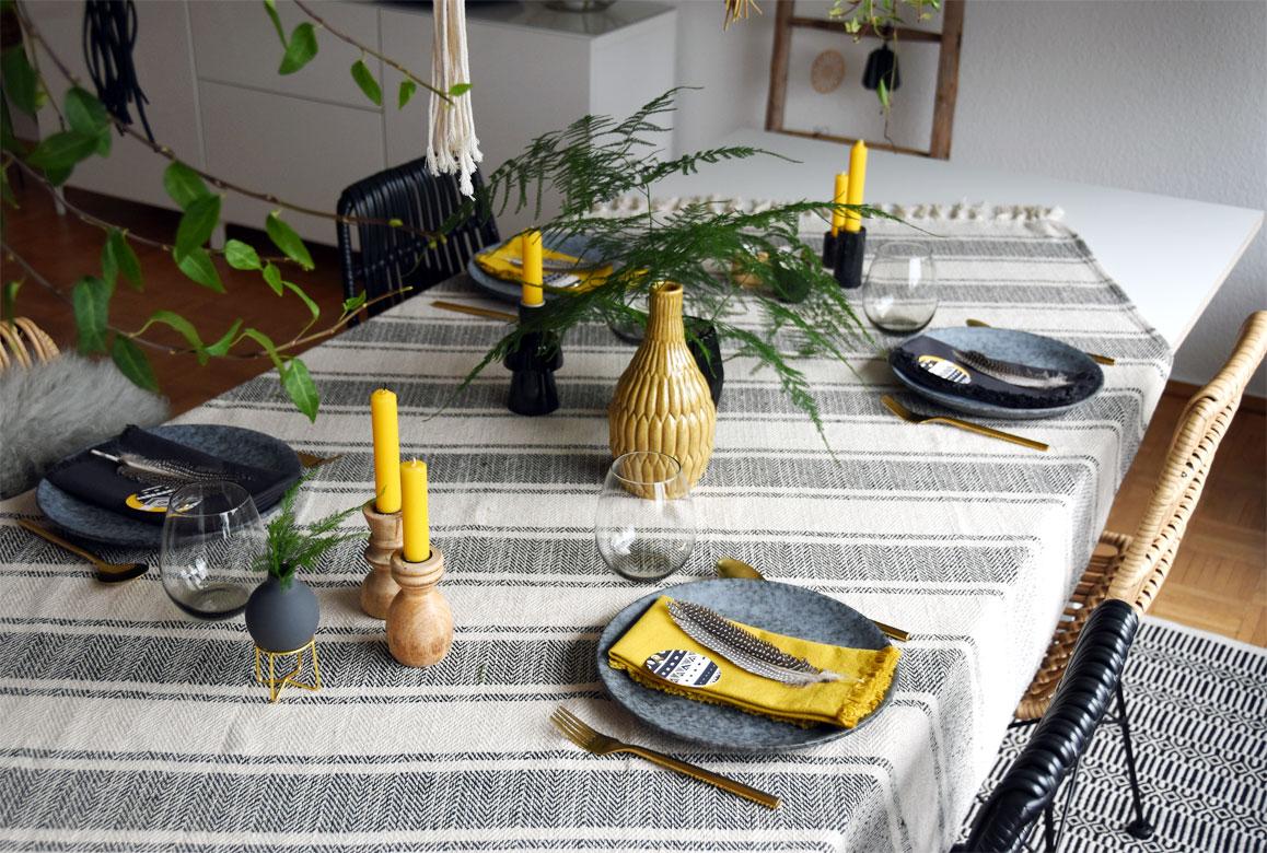 Tischdeko im Ethno-Style