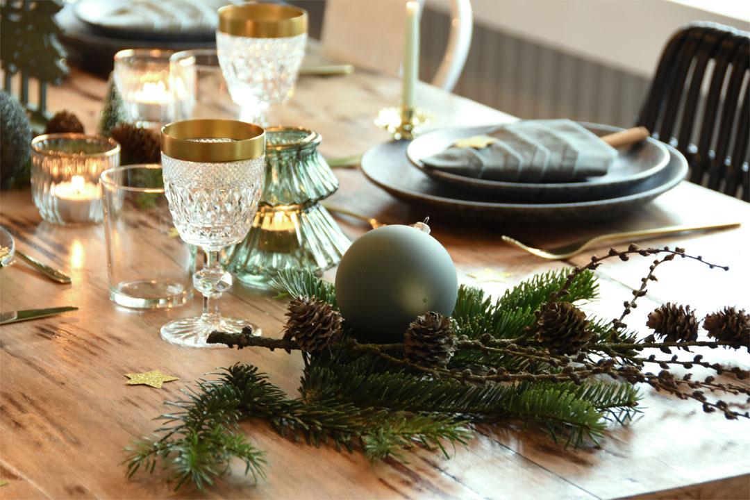 Weihnachtliche Tischdeko