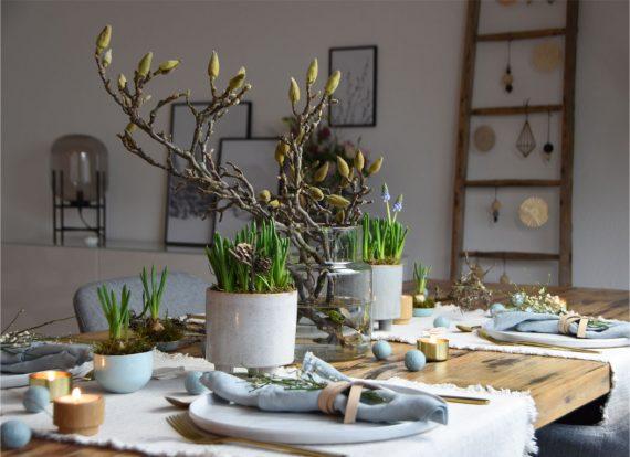 Tischdeko  in Naturtönen