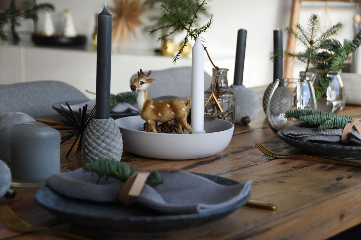 Schnelle Advent Tischdeko