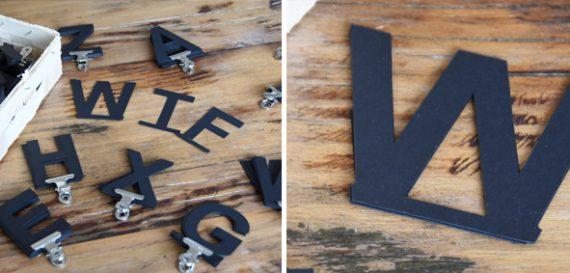 Letterboard- DIY - Buchstaben mit Steg