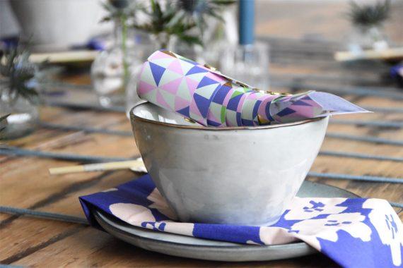 Tischdeko in Blau - Papierfisch -DIY