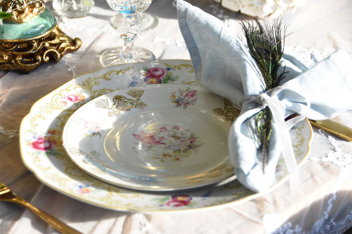 Opulente Tischdeko
